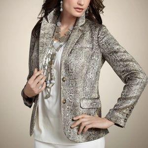 NWT Chico's jacquard blazer cobra pattern. Size 2